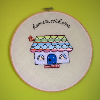 home sweet home embroidery-cc