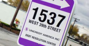 Debt Resolution Center sign
